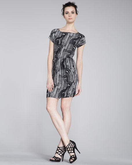 Sao Printed Silk Dress
