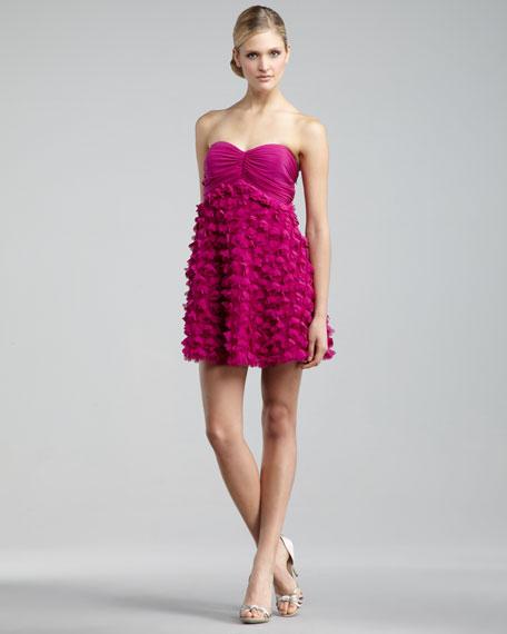 Strapless Petal Minidress