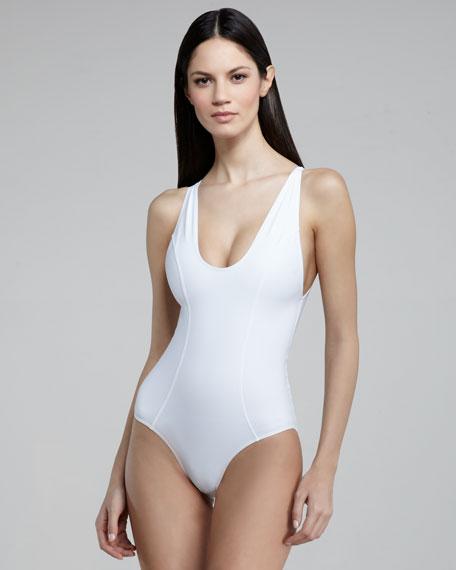 Garance Back-Zip One-Piece Swimsuit