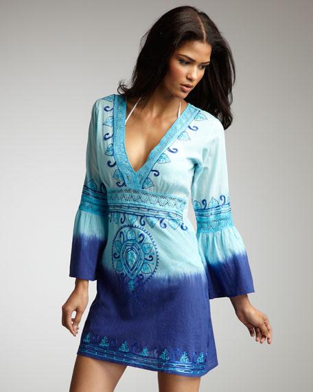 Kimono Dip-Dye Tunic, Blue