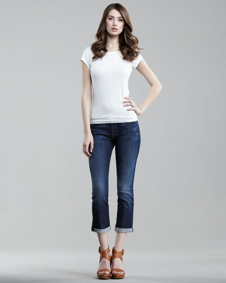 Skinny Crop & Roll Nouveau NY Jeans