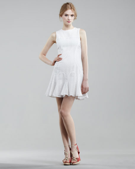 Sleeveless Eyelet Dress