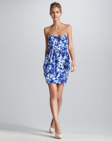 Julieanna Strapless Print Dress