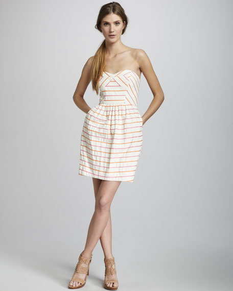 Frannie Striped Sweetheart Dress