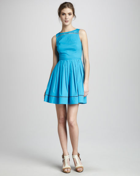 Michelle Sleeveless Poplin Dress