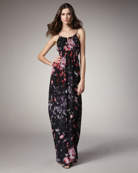 Exploded Flowers Maxi Dress