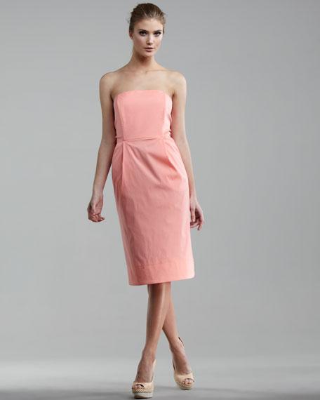 Tie-Back Poplin Dress