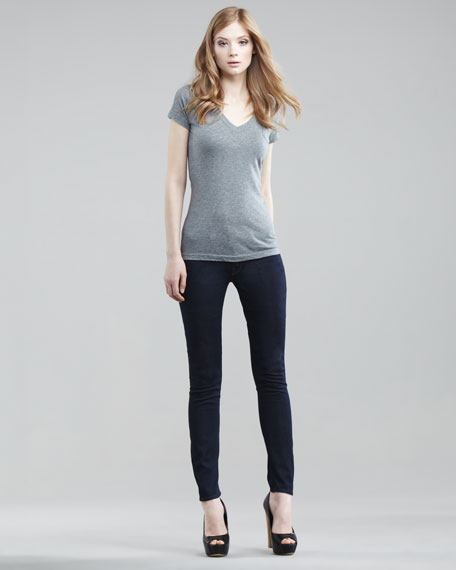 Mother Denim Sweetheart Looker Skinny Jeans