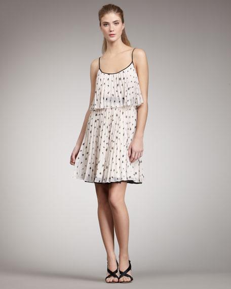 Pleated-Silk Dress