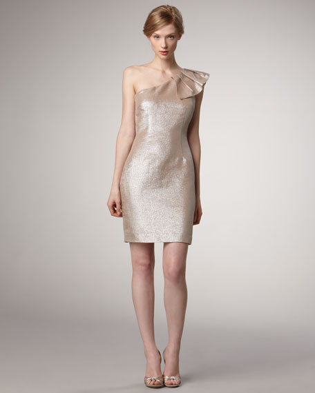 Meade Metallic Dress