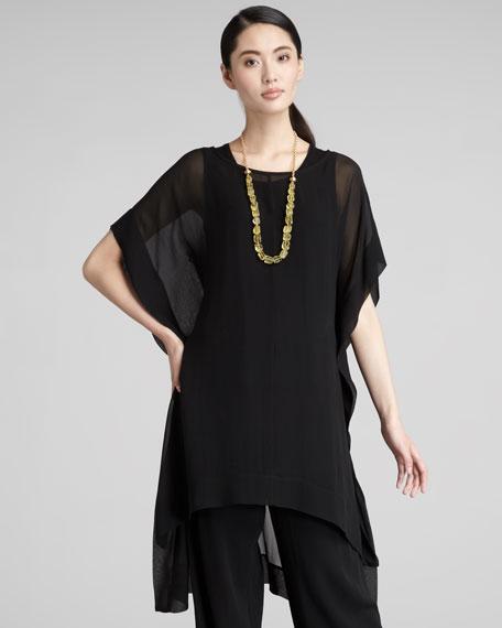 Sheer Silk-Georgette Caftan, Women's