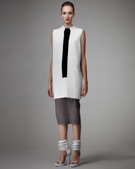 Midi Column Skirt, Dust