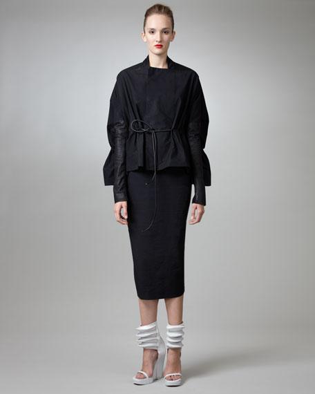 Midi Column Skirt, Black