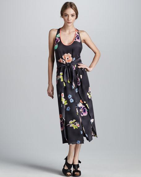 Wild Rose Silk Dress