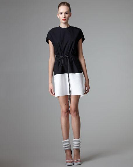 Two-Tone Cotton-Silk Tunic