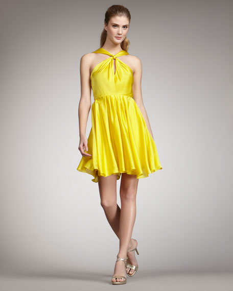Knotted Halter Dress