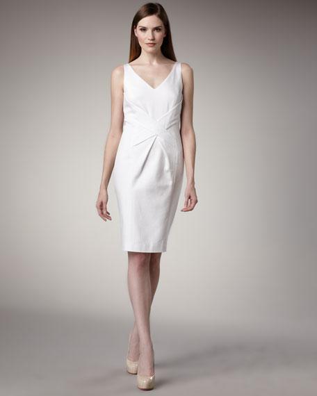 Cross-Waist Pique Dress