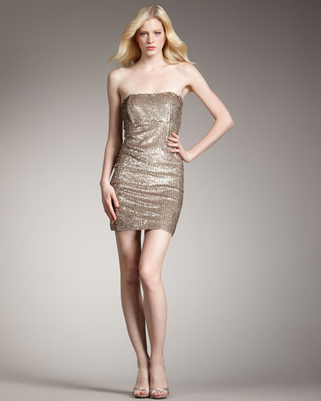 Rigby Sequined Tube Dress