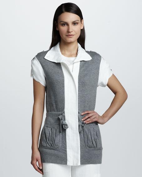 Colorblock Short-Sleeve Jacket