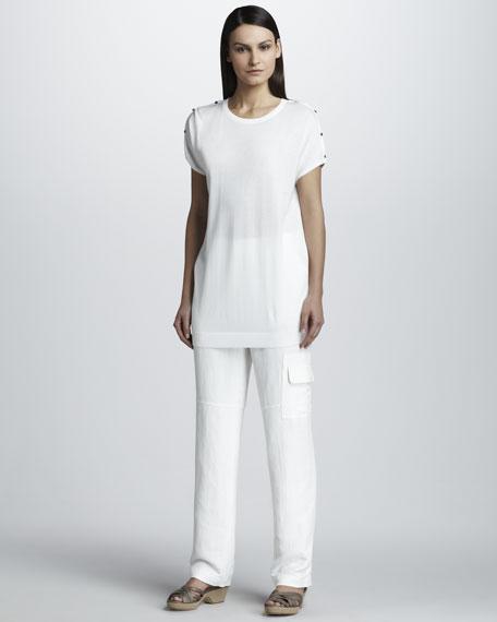 Linen Blend Cargo Pants