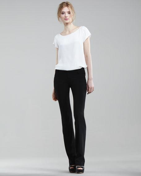 Scarlet Low-Rise Boot-Cut Pants