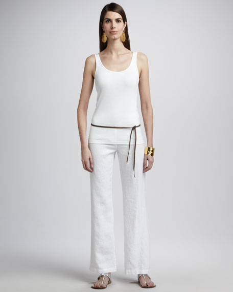 Heavy Linen Wide-Leg Trousers