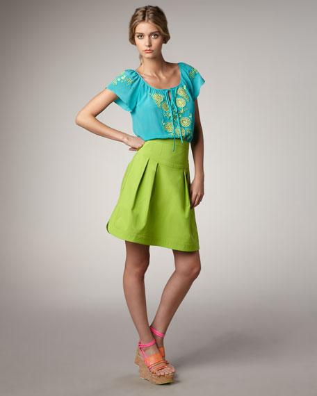 Hypnotist Pleated Skirt