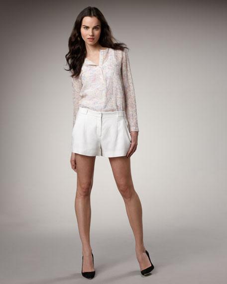 Linen-Blend Trouser Shorts