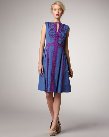 Jump Rope Embroidered Dress