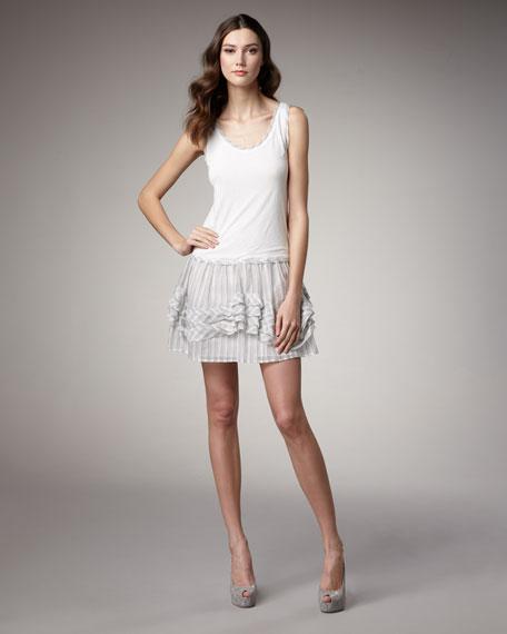 Drop-Waist Combination Dress