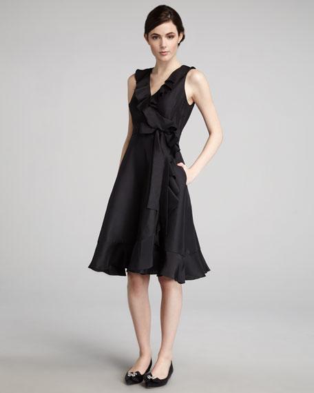 fiona ruffled wrap dress