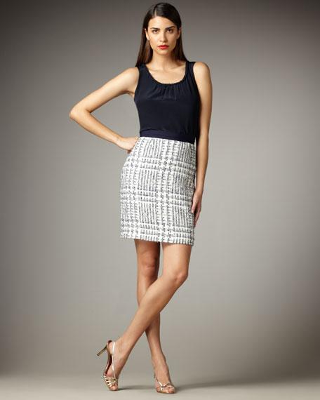 kylie check tweed skirt