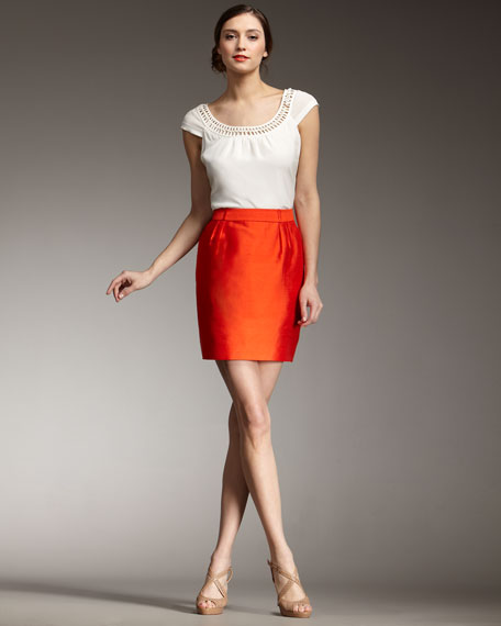 meredith silk skirt