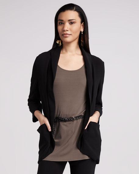 Silk-Jersey Sleeveless Tunic, Women's