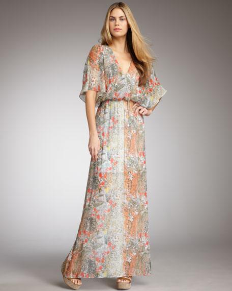Baska Floral-Print Maxi Dress