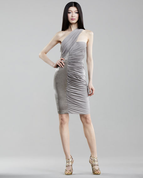 Ruched Jersey Dress, Zinc
