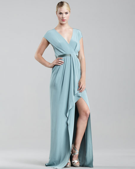 Crepe de Chine Origami Gown