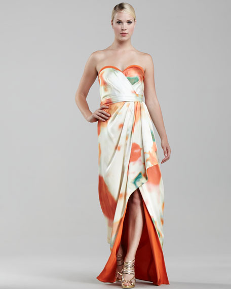 Floral Origami-Skirt Gown