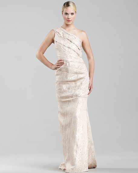 Double-Face Metallic Gown