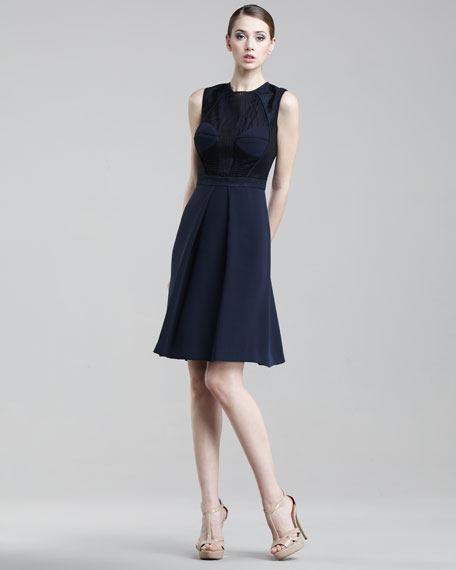 J. Mendel Featherweight Jacquard Dress