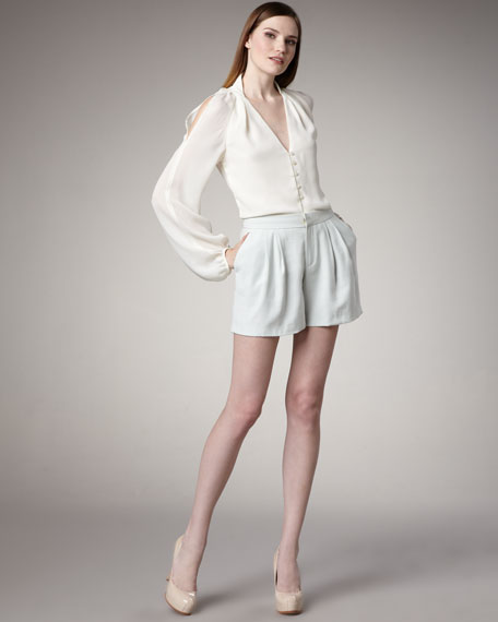 Modern Pleated Suiting Shorts