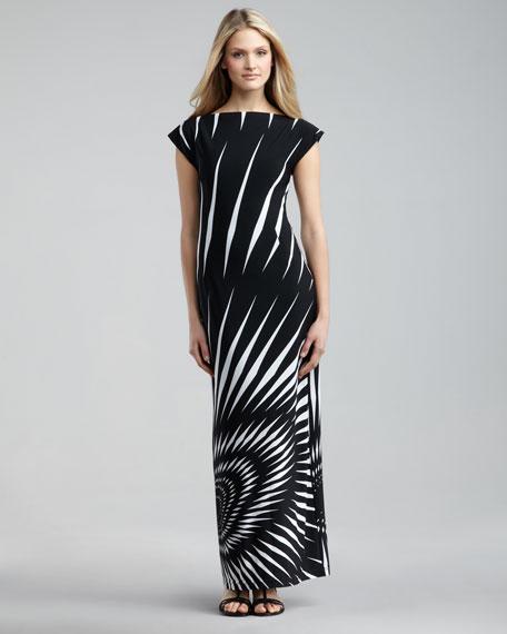 Seashell Jersey Maxi Dress, Women's