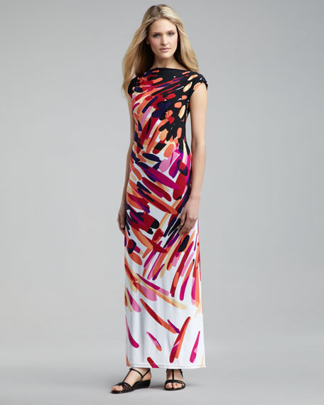 Printed Jersey Maxi Dress, Women's