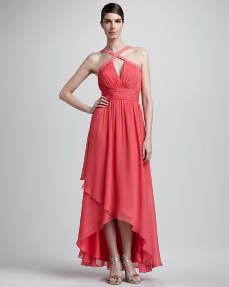 Crisscross High-Low Gown