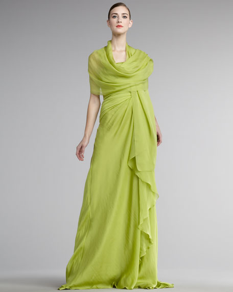 Strapless Gown with Stole