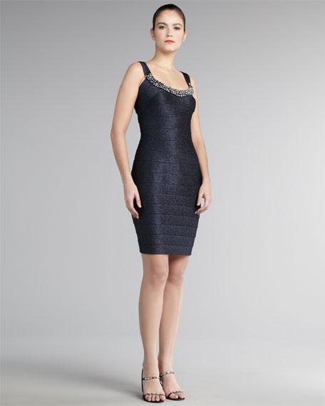 Scoop-Neck Bandage Dress