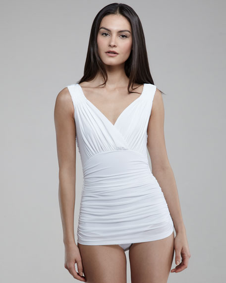 Tara Reversible Ruched Swimdress