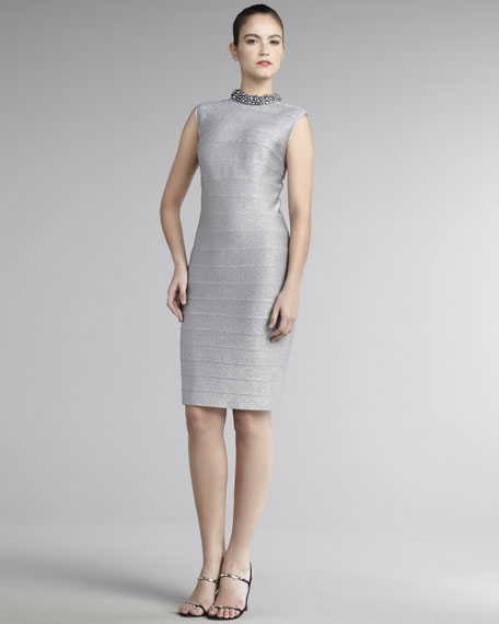 Bead-Neck Bandage Dress