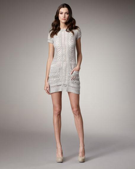 Open-Knit Sweater Dress