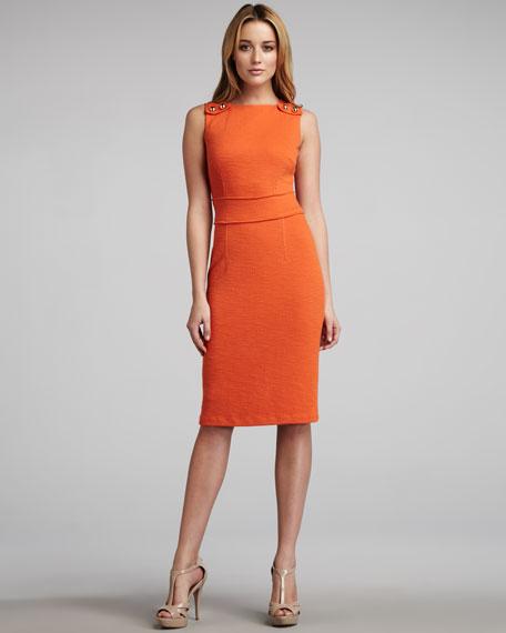 Snap-Shoulder Sheath Dress